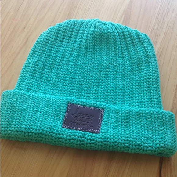 d210c16f396 Love your melon mint hat folded beanie
